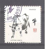 France Autoadhésif Oblitéré N°1375 (Douze Signes Astrologiques Chinois - Boeuf) (cachet Rond) - France