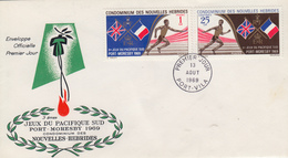Enveloppe FDC  1er Jour   NOUVELLES  HEBRIDES   3éme  Jeux  Sportifs  Du  Pacifique  Sud   1969 - FDC
