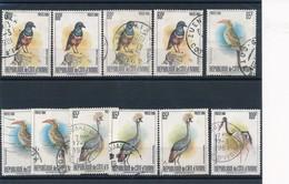 """CC-123: COTE D'IVOIRE: Lot Avec """" Bonnes Valeurs Oblitérés"""": Oiseaux De 1980 - Côte D'Ivoire (1960-...)"""