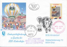 Austria FDC 23-5-1997 EUROPA CEPT With Cachet SOS Kinderdorf Sent With Balloon - Europa-CEPT