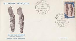 Enveloppe  FDC   1er Jour  POLYNESIE    Art  Des  ILES  MARQUISES   1967 - FDC