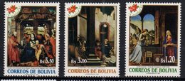 BOLIVIA , 1995, MNH,CHRISTMAS, CELEBRATIONS, MICHEL 1290-1292, 3v - Kerstmis