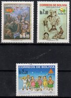 BOLIVIA , 1999, MNH,CHRISTMAS, CELEBRATIONS, LOCAL INDIANS,   MICHEL 1427-1429, 3v - Navidad