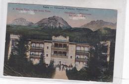 TRATY-TRATANSKA POLIANKA. SANATORIUM. A MAGAS TRATA. DIE HOHE TRATA. DIVALD ES MONOSTORY. CIRCA 1900's- BLEUP - Slowakije