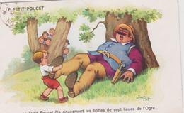 Illustrateur :  Jim Patt : Le  Petit  Poucet  Ota  Doucement Les  Bottes  De Sept Lieues De L ' Ogre - Künstlerkarten