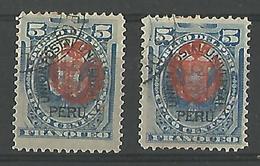 Uñion Postal Universal 5c Blue - Peru