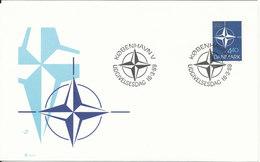 Denmark FDC 16-3-1989 NATO With Cachet - FDC