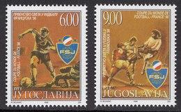 Yugoslavia 1998 FIFA Football World Cup France, Soccer, Sport, Set MNH - 1998 – France