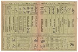 Carte Commerciale Tarif /  Edouard BASTIEN / Tuilerie De Grandvillers 88 Vosges - Other