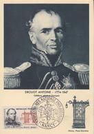Carte  Maximum  1er   Jour    FRANCE    Oblitération   Grand  Format   Général   DROUOT   NANCY  1961 - Cartes-Maximum