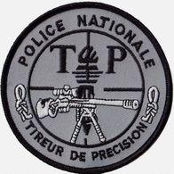 INSIGNE TISSUS PATCH POLICE NATIONALE T.P TIREUR DE PRECISION SUR VELCROS ETAT EXCELLENT - Police & Gendarmerie