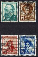 Schweiz 1940 // Mi. 373/376 O (026..362) - Gebraucht