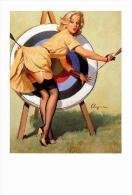 Pin Ups Of GIL ELVGREN Postcard RPPC - (182) A Near Miss, 1964 - Size 15x10 Cm.aprox. - Pin-Ups