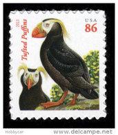 USA, 2013, Scott #4737, Tufted Puffins, Second Ounce 86c, MNH, VF - Ongebruikt