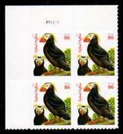 USA, 2013, Scott #4737, Tufted Puffins, Second Ounce 86c,PB. MNH, VF - Unused Stamps