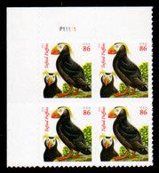 USA, 2013, Scott #4737, Tufted Puffins, Second Ounce 86c,PB. MNH, VF - Ongebruikt