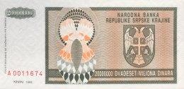 Croatia 20 Million Dinara, P-R13a (1993) - UNC - Kroatien