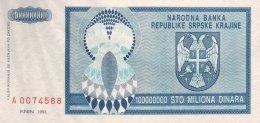 Croatia 100 Million Dinara, P-R15a (1993) - UNC - Kroatien