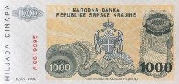 Croatia 1.000 Dinara, P-R30a (1994) - UNC - Croatia