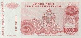 Croatia 10 Million Dinara, P-R34a (1994) - UNC - Kroatien