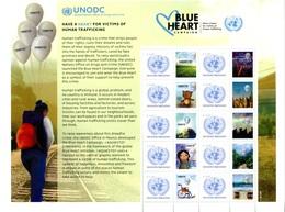 ONU Vienne 2018 - Feuille De Timbres Personnalisés UNODC Blue Heart Campaign Human Trafficking ** - Blocks & Sheetlets
