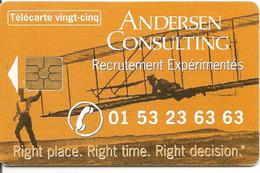 CARTE-PRIVEE-25U-HN86--GEM2-06/98-ANDERSEN CONSULTING-UTILISE-2800Ex-BE - France