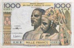 West African States 1.000 Francs, P-203Bi (BENIN) - F - États D'Afrique De L'Ouest