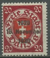 Danzig 1930 Freimarken Mit Aufdruck 223 Mit Falz - Dantzig