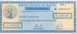 Bolivia 1 Million Bolivianos, P-190 (8.3.1985) - UNC - Bolivien