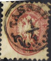 AUSTRIA HUNGARY ROMANIA 1863/54  5 Kr @ TASNÁD Now Tasnad   OPM - Usados