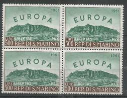 4x SAN MARINO - MNH - Europa-CEPT - Geography - 1961 - Europa-CEPT