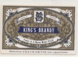 - étiquette  1920* King's Brandy Produits De La Maison IVALDI  Eau De Vie - Etiquettes