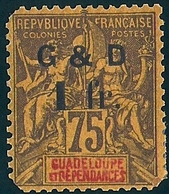 4 GUADELOUPE Yvert 49o Maury 49I Cote 57€ Défauts - Guadeloupe (1884-1947)