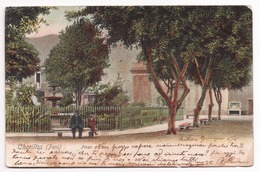 Chorillos ~ Plaza ~ Lima ~ Cromolitográfico ~ Chromolithographie ~ Photochrom ~ Union Postale Universelle - Peru