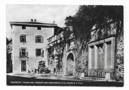 ROVERETO - PIAZZA DEL PODESTA' CON MONUMENTO A D.CHIESA E F.FILZI - NV  FG - Trento