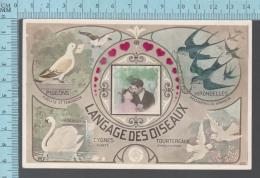 CPA Fantaisie Femme Oiseaux, LANGAGE DES OISEAUX - ED: MF 698 - Femmes