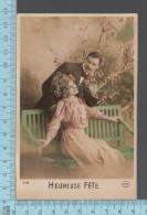 CPA 1912, Fantaisie Couple, Femme Homme, Heureuse Fête,  ED: Circé 5112 - Women