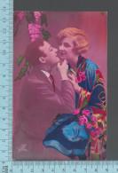 """CPA Fantaisie Couple Amoureux, Femme Homme """"Roses"""" -  ED: Photocelere 66/2 - Femmes"""