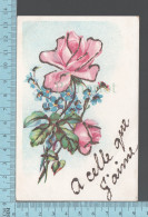 CPA Fantaisie Fleurs, Poudre Brillante À Celle Que J'aime  -  Postcard Carte Postale - Otros