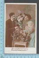 CPA Fantaisie  Couple Amoureux, Femme Homme, Fiancés En Ce Jour -ED: ELB 4085 - Femmes