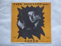 25 CM YVES MONTAND  ODEON OS 1001 LES FEUILLES MORTES - Rock
