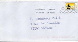 """2018--tp Adhésif Du Carnet """"Nouvelle Vague"""" --Mont St Michel-Mickey-- - 1961-...."""