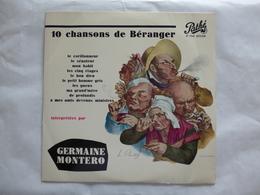 25 CM GERMAINE MONTERO  PATHE AT 1060  CHANTE BERANGER - Rock