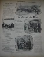 1902 AUTOMOBILE CIRCUIT DU NORD - BOXE FRANÇAISE CASTERES CHARLEMONT - CYCLIME MARSEILLE PARIS - GRAND PRIX DIANE - Livres, BD, Revues