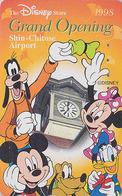 Télécarte Japon / 110-202340 - DISNEY STORE GO - MICKEY & MINNIE / Sapporo Airport - Japan Phonecard - Airlines Avion - Disney