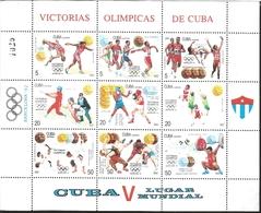 RJ) 1992 CUBA-CARIBE, OLYMPIC VICTORIES BARCELONA 1992, DISC, HIGH JUMP, CAREERS, BOX, BASEBALL, VOLLEYBALL - Cuba
