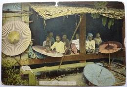UMBRELLA MAKERS IN BURMA - Myanmar (Burma)