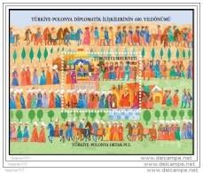 (4130) JOINT STAMP OF TURKEY-POLAND SOUVENIR SHEET MNH** - 1921-... Republic