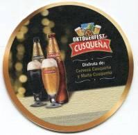 Lote P127, Peru, Posavaso, Coaster, Cusqueña, Oktoberfest, Disfruta Cerveza Y Malta - Portavasos