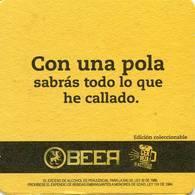 Lote 432, Colombia, Posavaso, Coaster, Pub Beer, Medellin  Airport, Con Una Pola Sabras Todo Lo Que He Callado - Portavasos